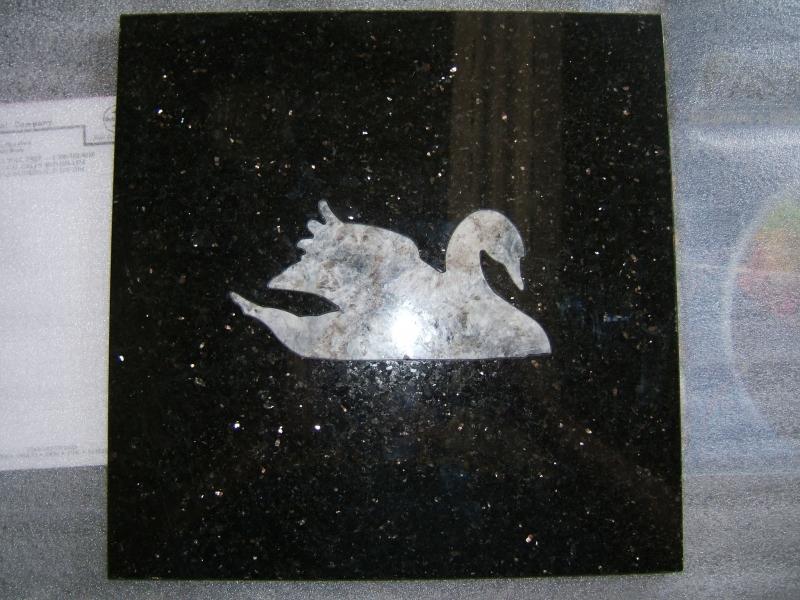 Granite Swan Inlay