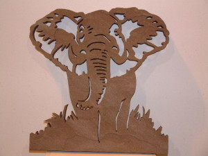 Elephant Waterjet Cut